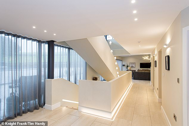 There is Control4 LED based lighting and audio system, and underfloor heating