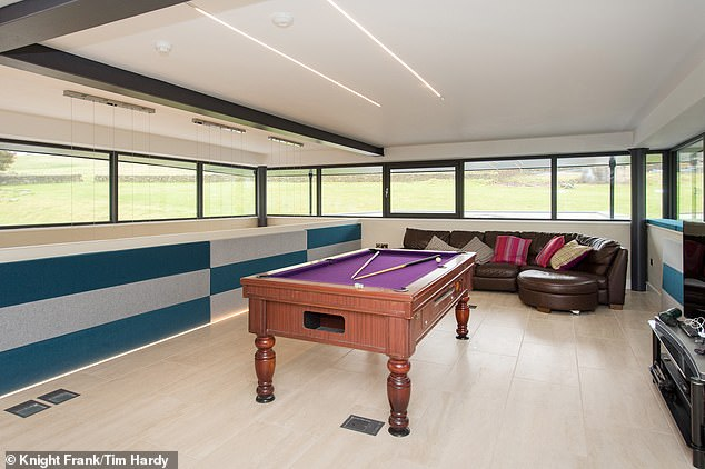The games room provides an entertainment area with a view of the surrounding countryside