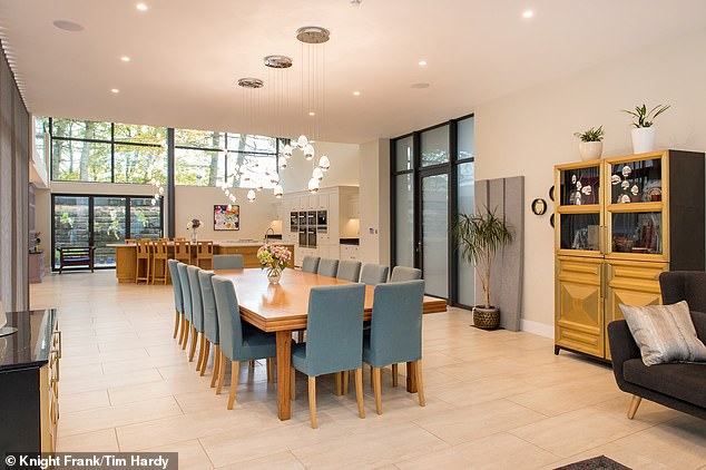 Floor to ceiling windows helps to flood the interiors with plenty of light