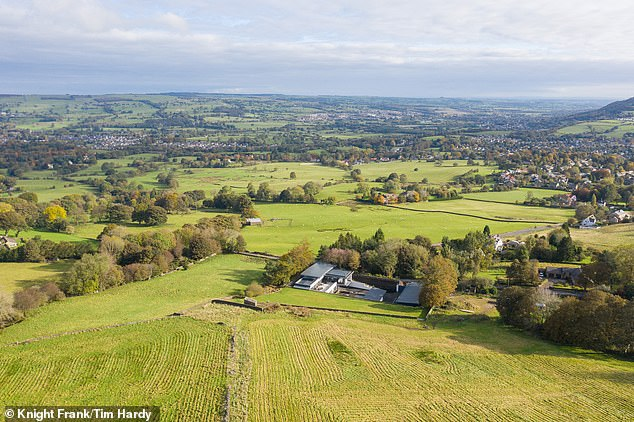 The hidden house: The property sits in 12 acres on the edge of Ilkley Moor in West Yorkshire