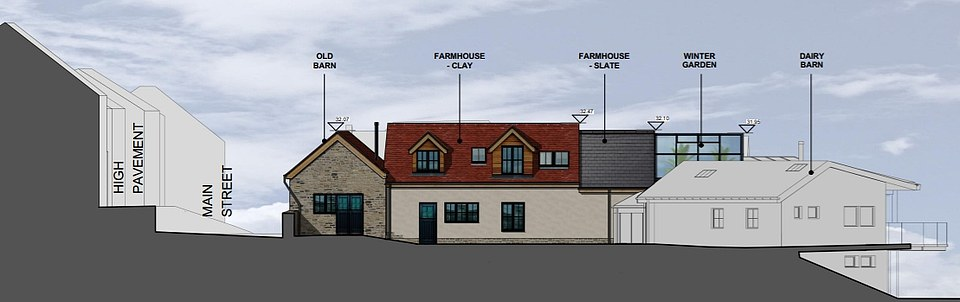 Plans reveal how the couple intended the £4m eco-house in the sleepy village to look - though they now face the prospect of having to demolish it