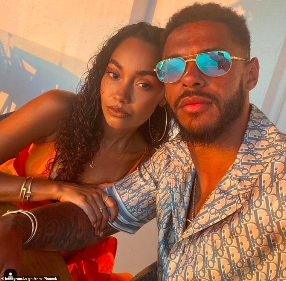 Happy couple:The singer, 29, and Watford footballer fiancée Andre Gray, 29, wanted to splash out on a subterranean leisure complex with a swimming pool, gym, sauna and jacuzzi - but their plans were halted by the council