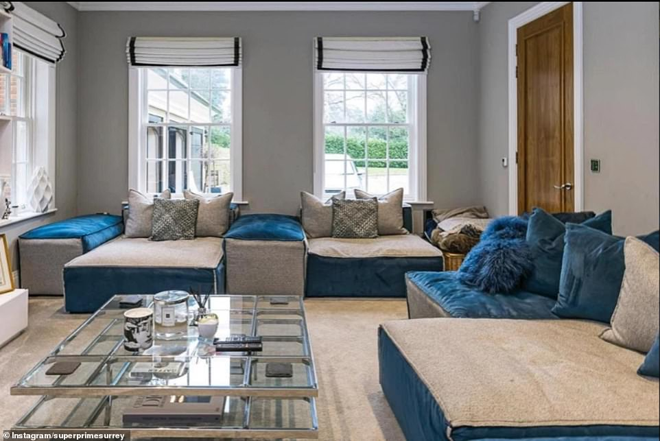 Reception room: The home features a spacious living area decorated with huge sofas