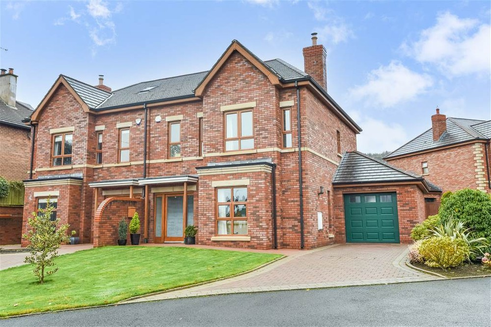 The exterior of 33A Tweskard Park. This is a semi-detached house for sale in Belfast.