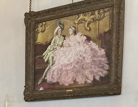 Lady in a Pink Ballgown with Gentleman in Green by Walter Sickert (pictured)