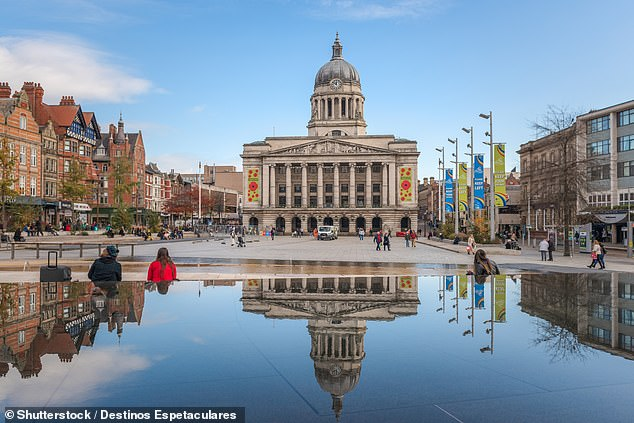 Critics accused town halls of delivering a 'kick in the teeth' to residents already hit hard by the pandemic. Pictured: Nottingham, where tax is raising to £2,119