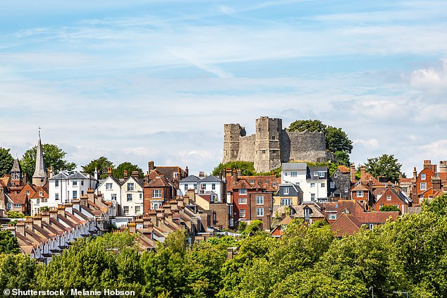 This year the Government has given councils the ability to put up their bills by up to 5 per cent. Pictured: Lewes, where tax for Band D homes is £2,111
