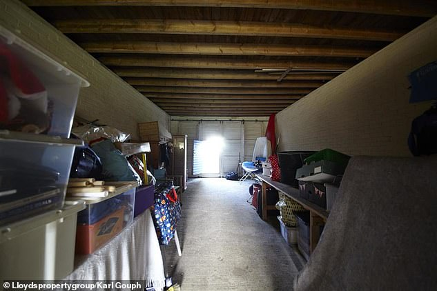 Could it be a family home? The inside of the garage is currently being used as a storage space