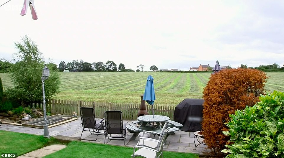 OPEN AND EXPOSED: The couple said they felt the layout of the garden before, pictured, didn't give them privacy