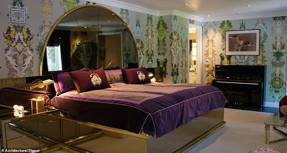 Ommm! She said her bedroom makes her feel calm