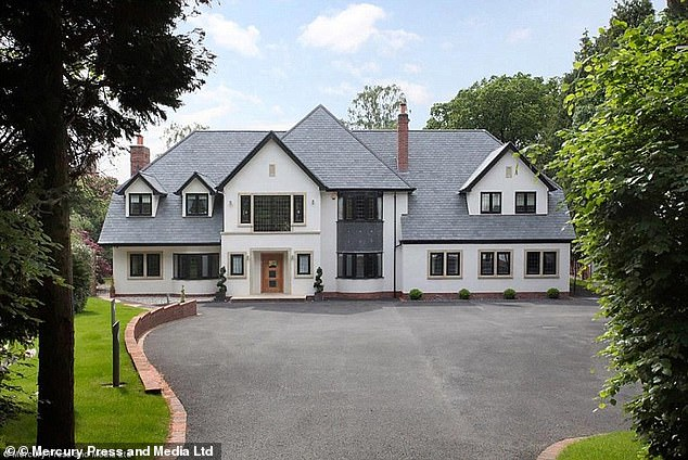 John Stones bought this (above) five bed property in Knutsford, Cheshire, for £3.4m in 2016