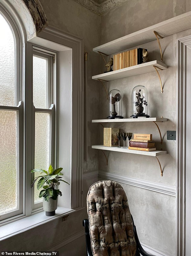 Making a change: The landing has abeautiful period sash window as its centrepiece