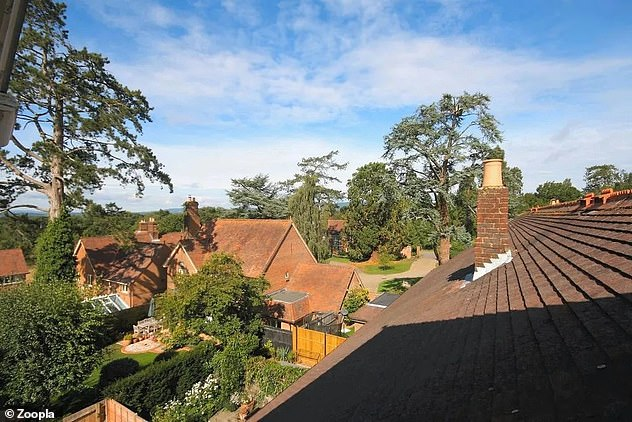 With its far-reaching views, the flat is for sale for £280,000 via estate agents EweMove Sales & Lettings