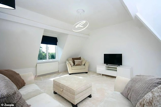 The flat in Surrey has been newly redecorated and now has a modern and light feel
