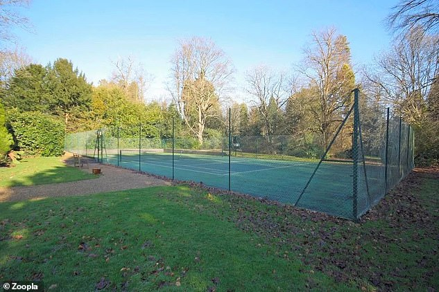 Extra benefits: Other facilities that can be used by residents include this tennis court
