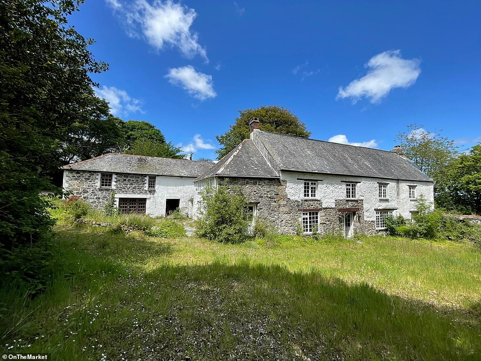 This Grade II-listed renovation project in Cornwall's St. Keverne is for sale for £500,000 via Clive Pearce estate agents