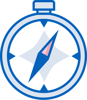 Compass logo. Image used in the guide to living in Holywood blog post