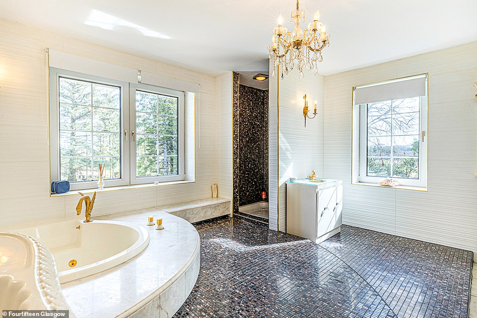 There are three well-sized bathrooms with the five bedrooms in the main house, one of which is an ensuite to the main bedroom