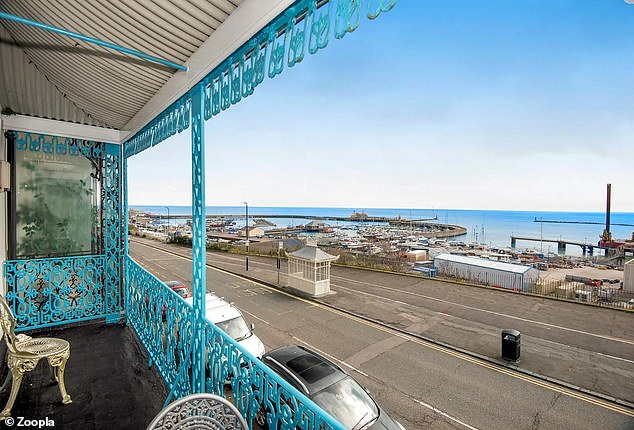 The terrace house is Grade II listed and boast views across the harbour in Ramsgate, in Kent
