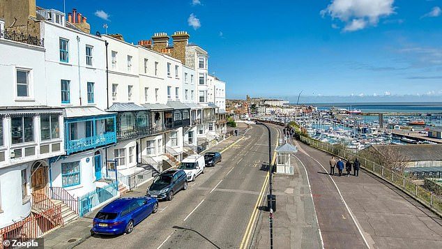 Charles Darwin's former home is on the Kent coastline with views of Ramsgate harbour
