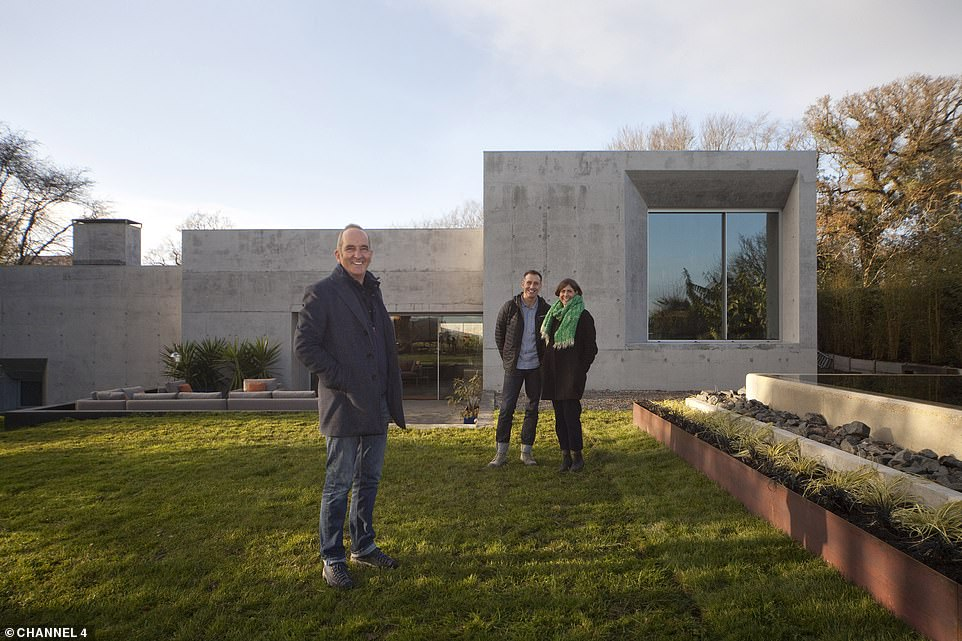 NOW: Kevin McCloud revisited the property in December 2020 and was pleasantly surprised by what he found. He noted that the exterior of the home (pictured) had been polished and ground down so the concrete looked more similar to limestone