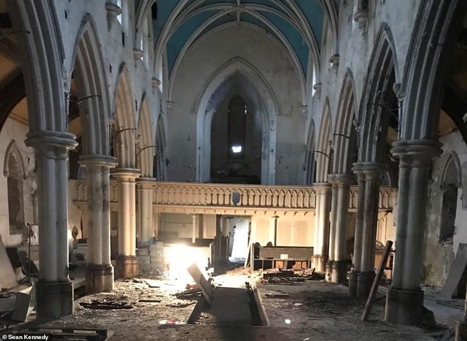 The church was a complete wreck when it was bought, but it was completely transformed on a budget of only £420,000