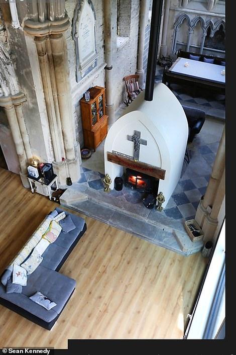 One of Charlie's favourite parts of the restoration was the alter