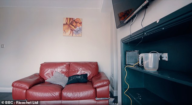 Before: The living room was previously in neutral colours with darker flooring and furnishings