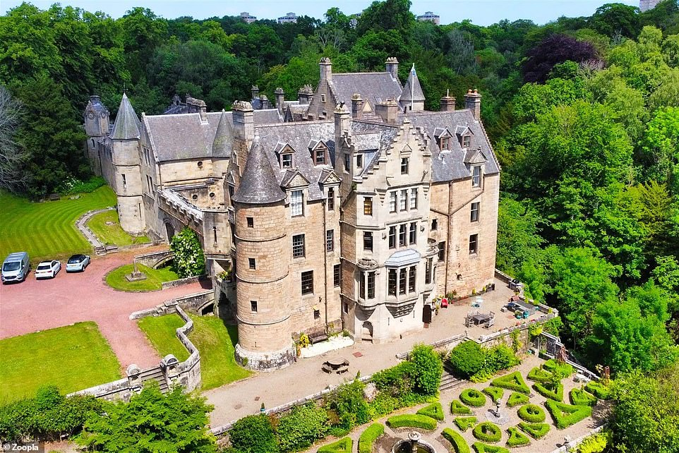 A two-bedroom flat that is part of this converted Scottish castle dating back to the fifteenth century is on the market