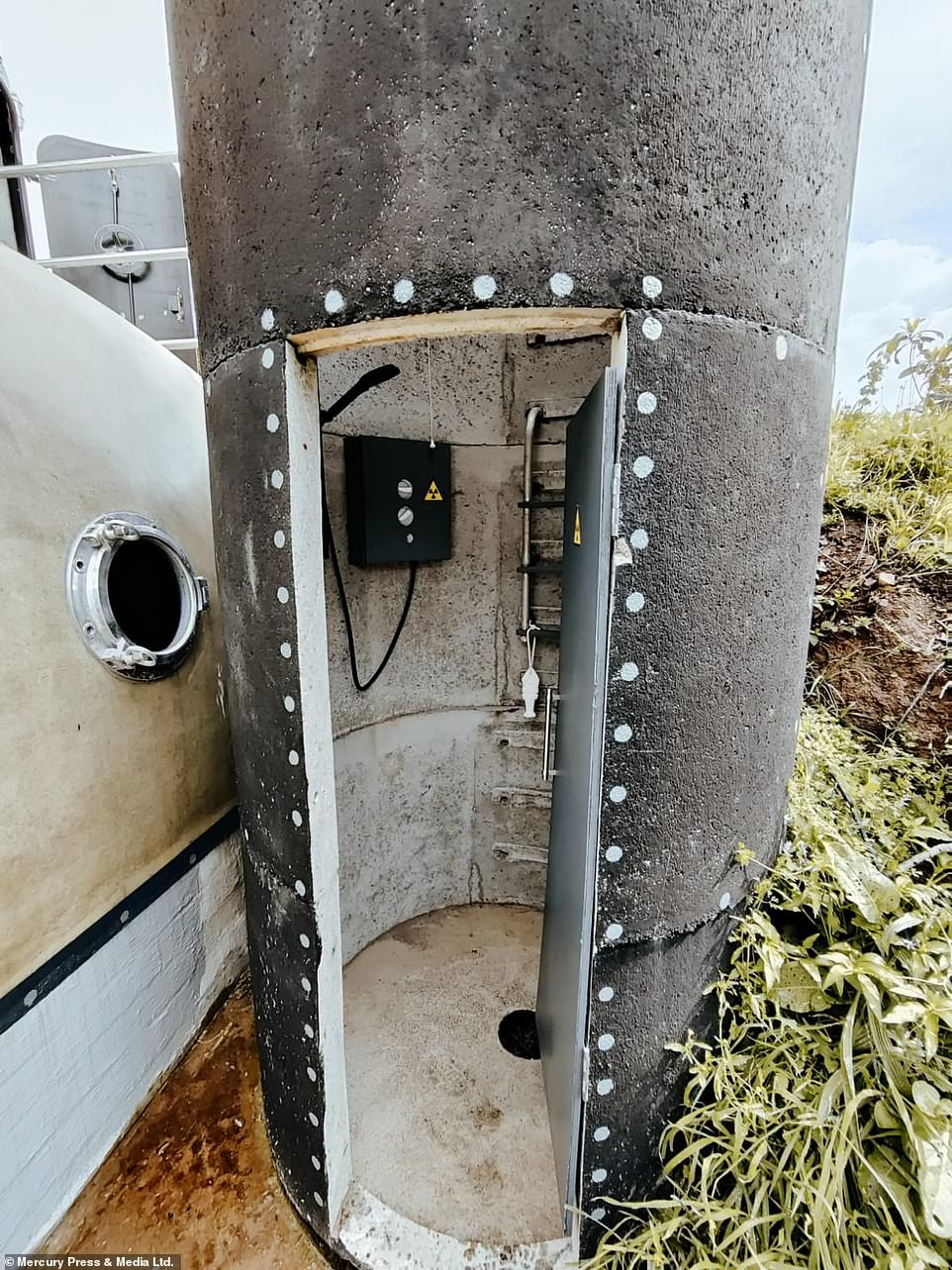 After it narrowly dodged active service in the Falklands War, Mr Davies salvaged the sonar dome in November last year when a friend with naval connections suggested he might be able to put it to good use