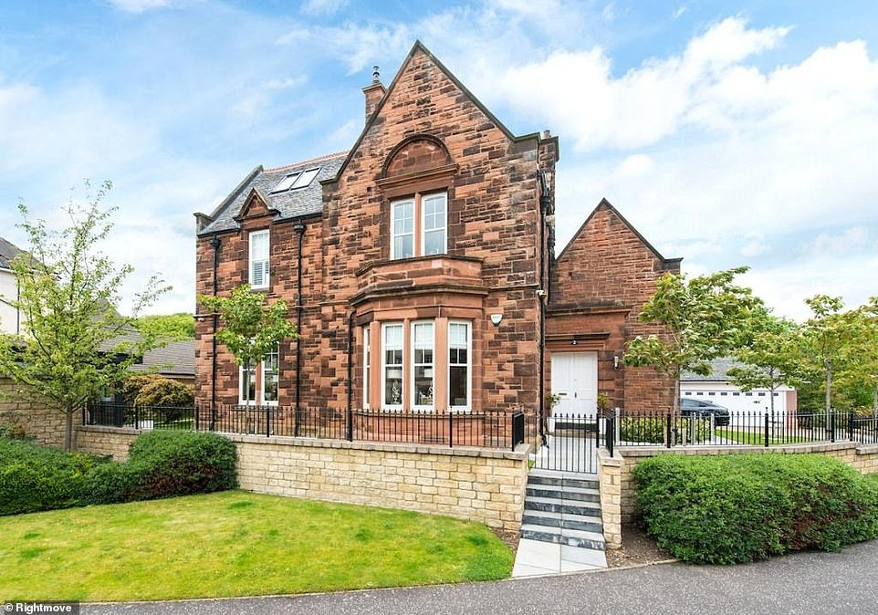 Scotland in demand: This five-bedroom detached house in Edinburgh is for sale for £1.65million via estate agents Rettie & Co