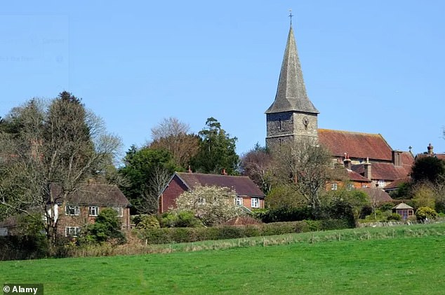 The picturesque town of Heathfield (pictured) sits between Tunbridge Wells and Eastbourne and is surrounded by woodland
